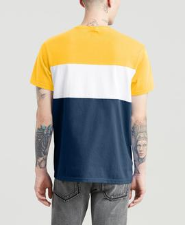 SS COLORBLOCK TEE COLORBLOCK OLD GOLD