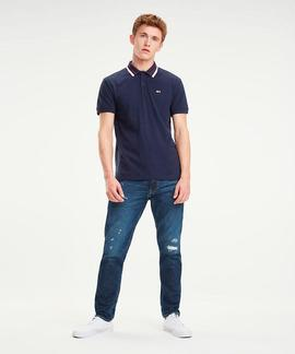 TJM TOMMY CLASSICS STR POLO REGULAR FIT BLACK IRIS