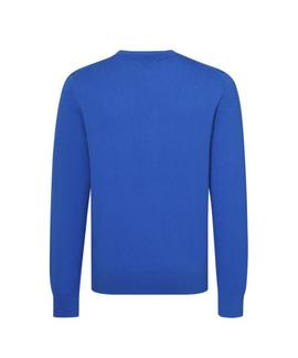 PIMA COTTON CASHMERE CNECK REGULAR FIT BLUE LOLITE