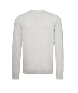 LOGO CNECK SWEATER REGULAR FIT WHISPER WHITE HEAT.