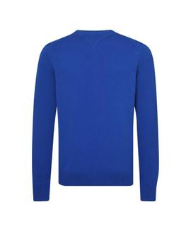 LOGO CNECK SWEATER REGULAR FIT BLUE LOLITE