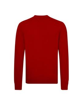 LOGO CNECK SWEATER REGULAR FIT HAUTE RED