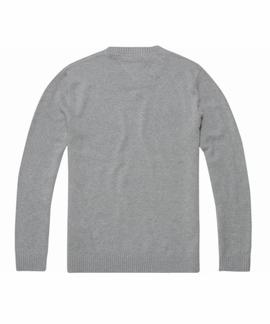 TJM SMALL LOGO SWEATER REGULAR FIT LT GREY HTR