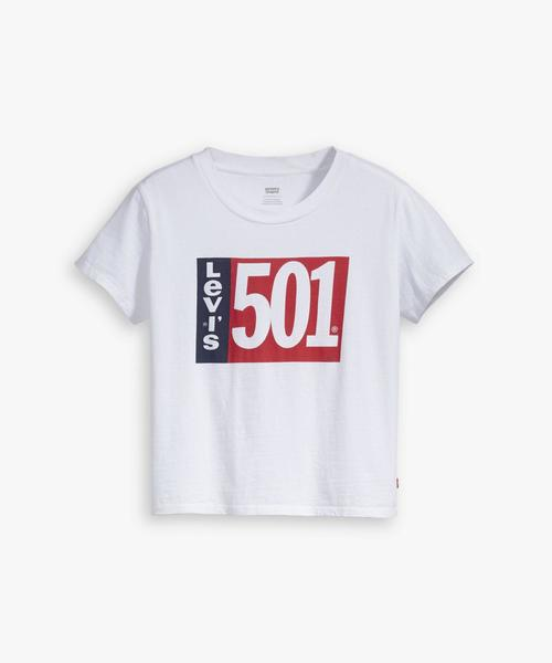 GRAPHIC SURF TEE 501 TAB WHITE