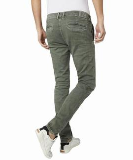 JAMES SLIM CHINO 732 VERDE KHAKI