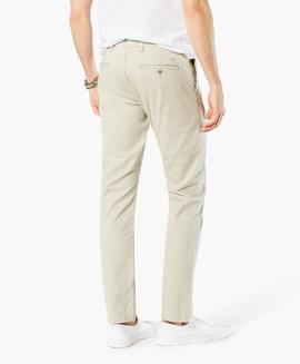 WASHED KHAKI SKINNY TAPERED SAFARI BEIGE
