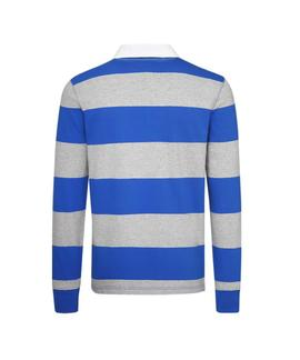 ICONIC BLOCK STRIPE RUGBY REGULAR FIT BLUE LOLITE