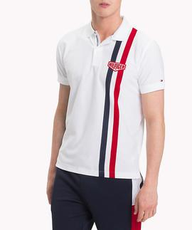 ENGINEERED STRIPE REGULAR FIT BRIGHT WHITE