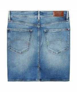 HEIDI SLIM DENIM SKIRT