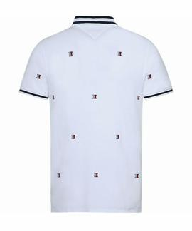 ALLOVER H EMBR SLIM FIT BRIGHT WHITE