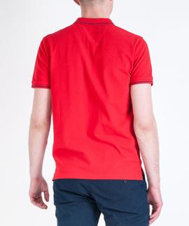 PIQUE POLO REGULAR FIT BRIGHT RED