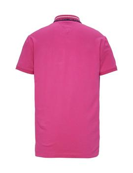 TJM TOMMY CLASSICS STR POLO REGULAR FIT FUCHSIA