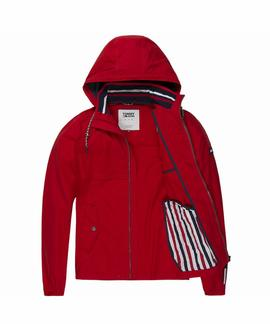 TJM ESSENTIAL ANORAK DECENT RED