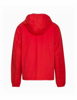 TJM ESSENTIAL HOODED JACKET FLAME SCARLET