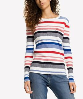 TJW STRIPE RIB SWEATER